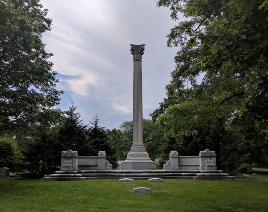 George Pullman burial monument in Graceland Cemetery