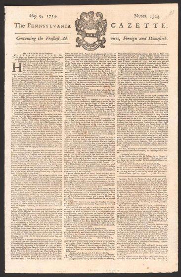 Pennsylvania Gazette (May 9, 1754)