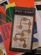 """The scratch-off accompaniment to the scavenger hunt of """"Sweet Chariot"""""""